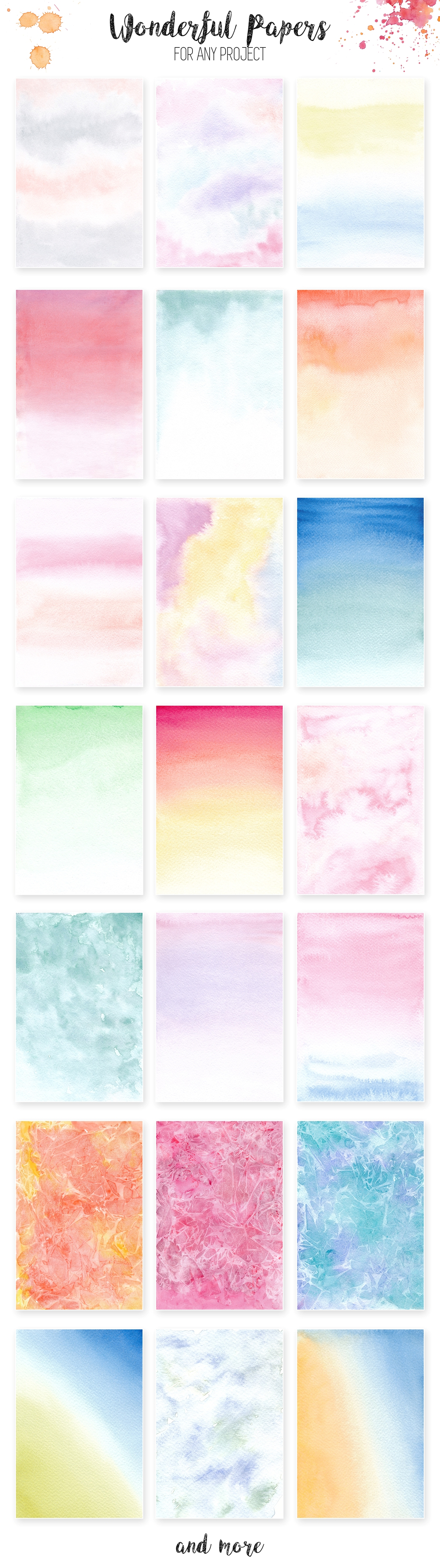 Watercolor Textures. Light & Bright example image 5
