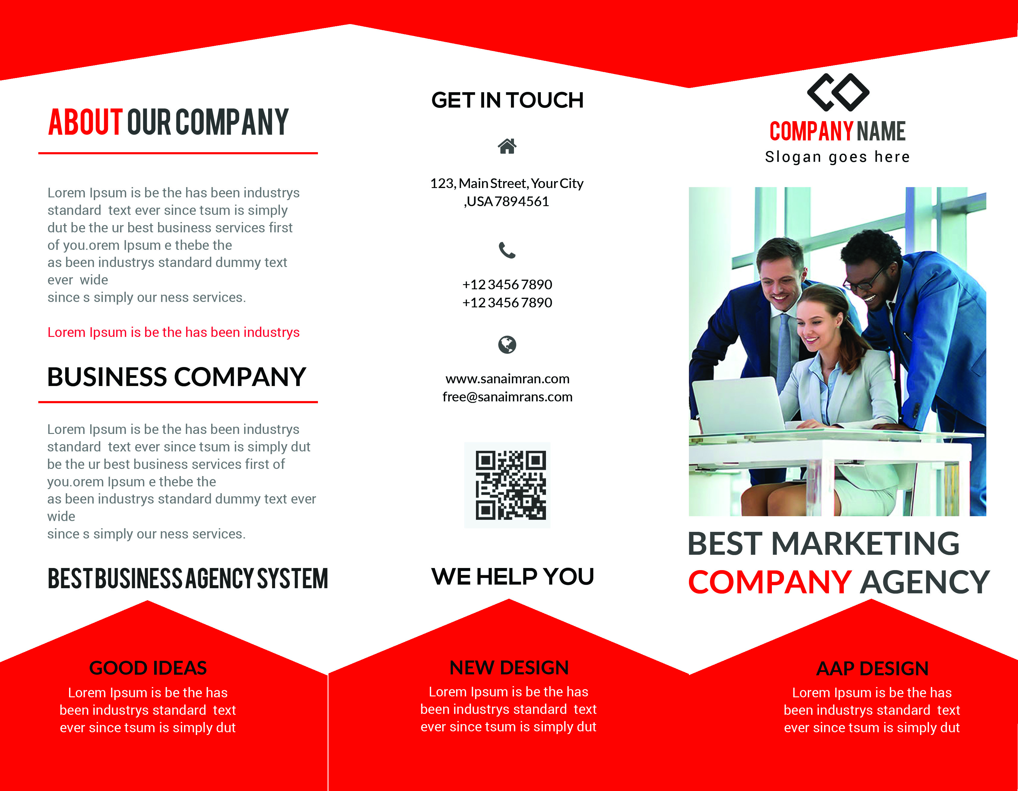 Tri Fold Brochure Mock-up Template - example image 1