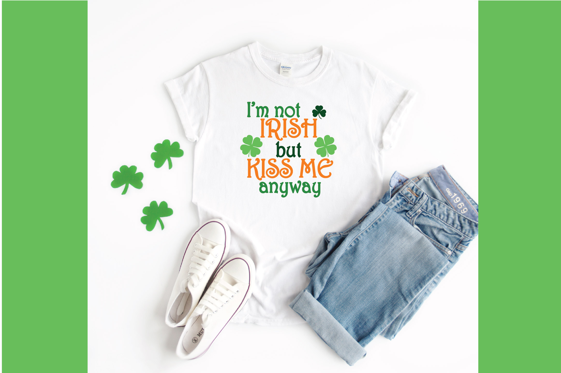 I'm not Irish but Kiss Me Anyway SVG Cut File - DXF - EPS example image 4