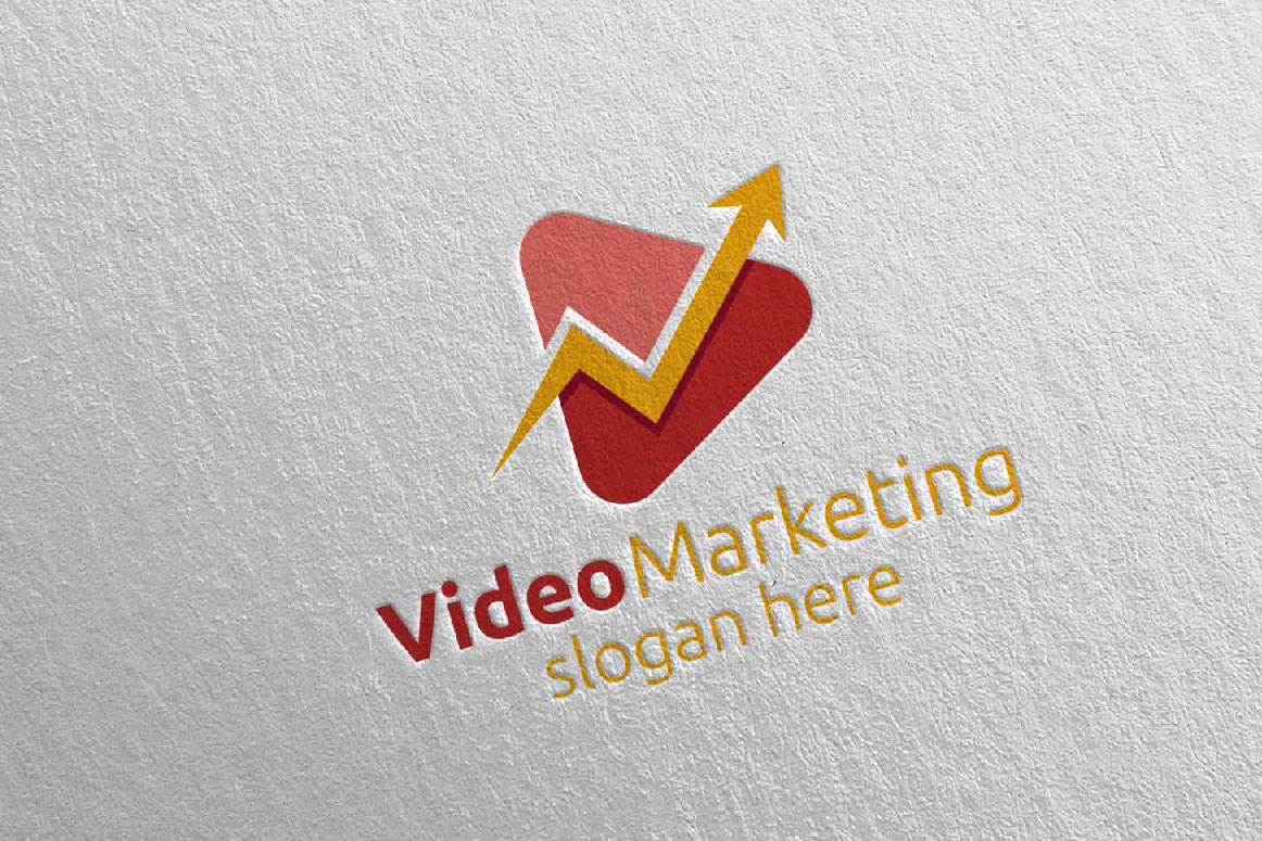 Video Marketing Financial Advisor Logo Design 20 example image 2