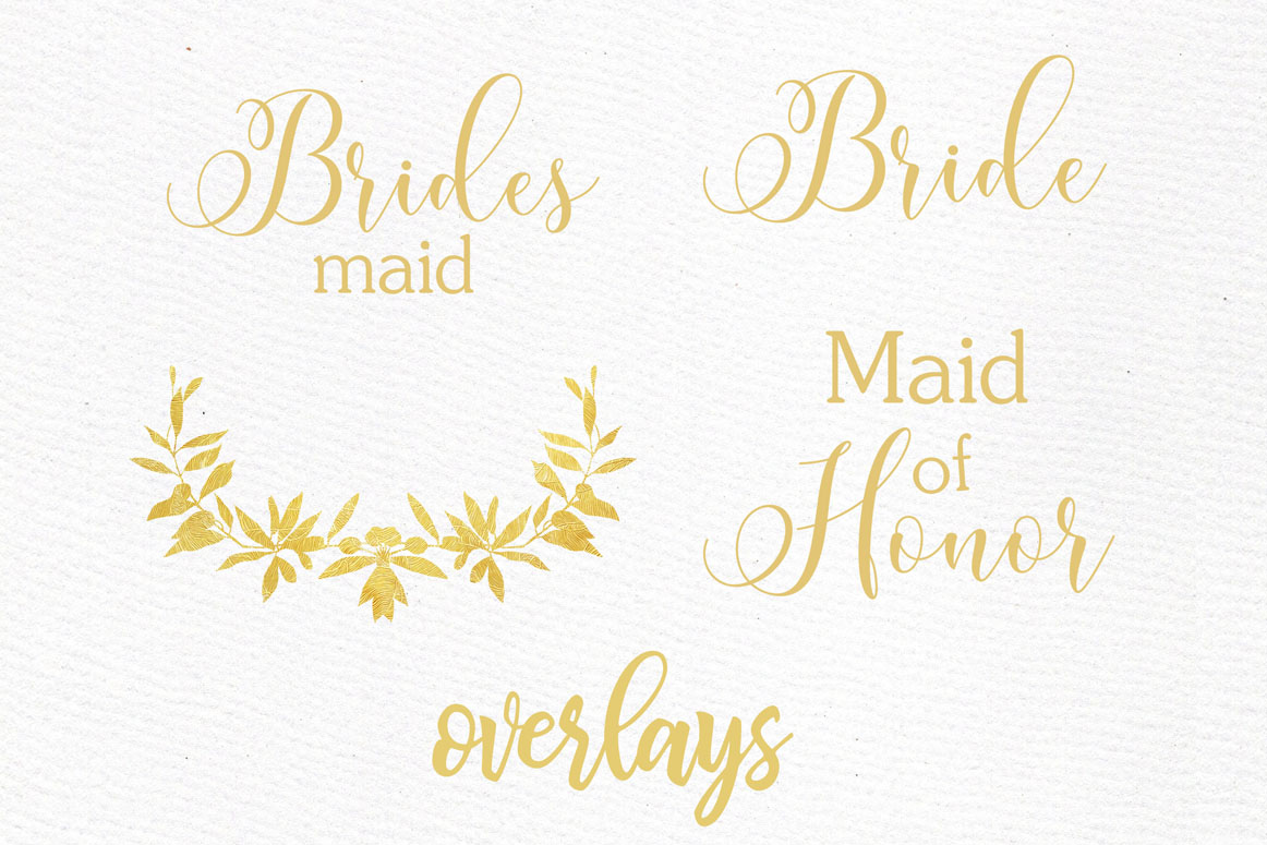 Bridesmaid clipart, WEDDING ROBES CLIPRT, Bachelorette Party example image 7