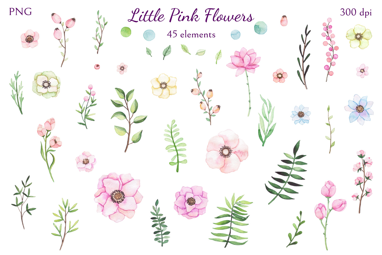Little Pink Flowers example image 2