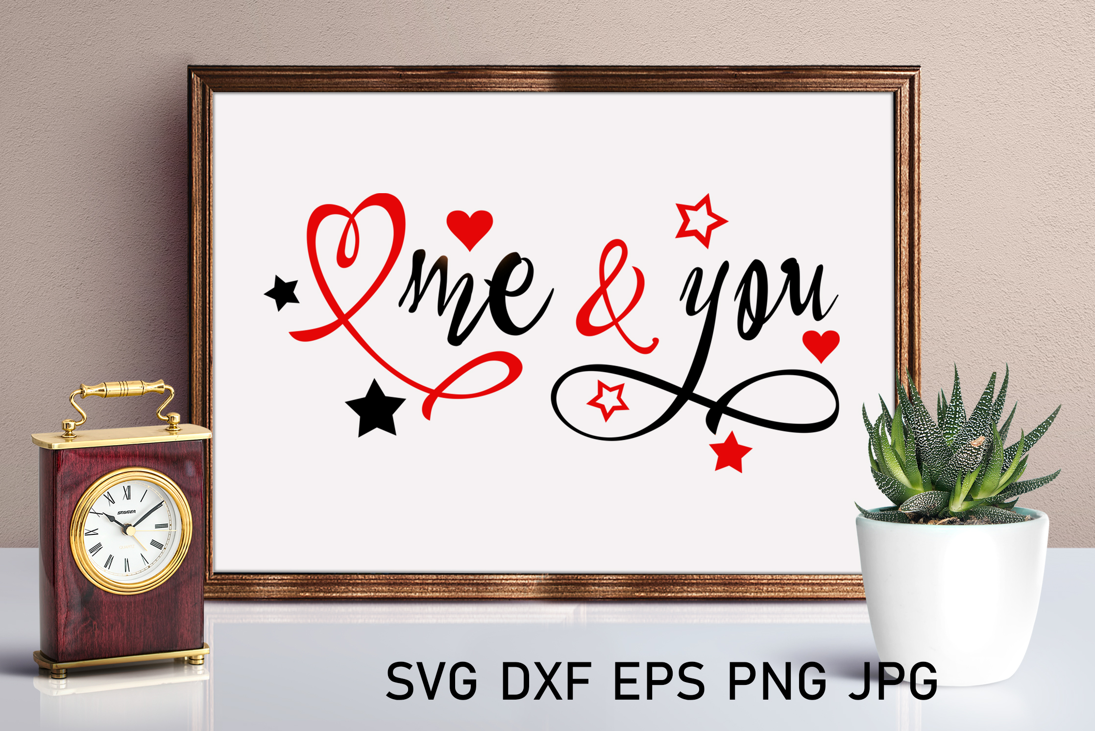 Me and You svg Valentine svg Love svg Wedding SVG Heart svg example image 1