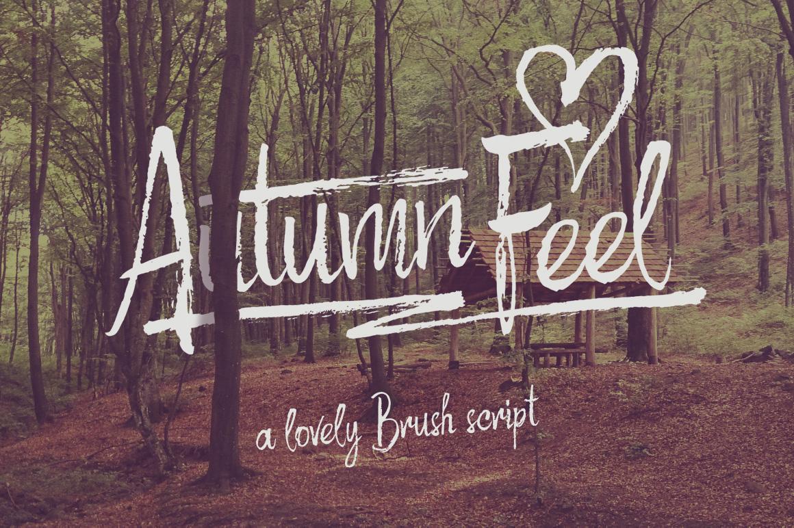 Autumn Feel font example image 1