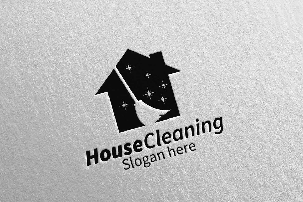 House Cleaning Service Logo Design example image 2