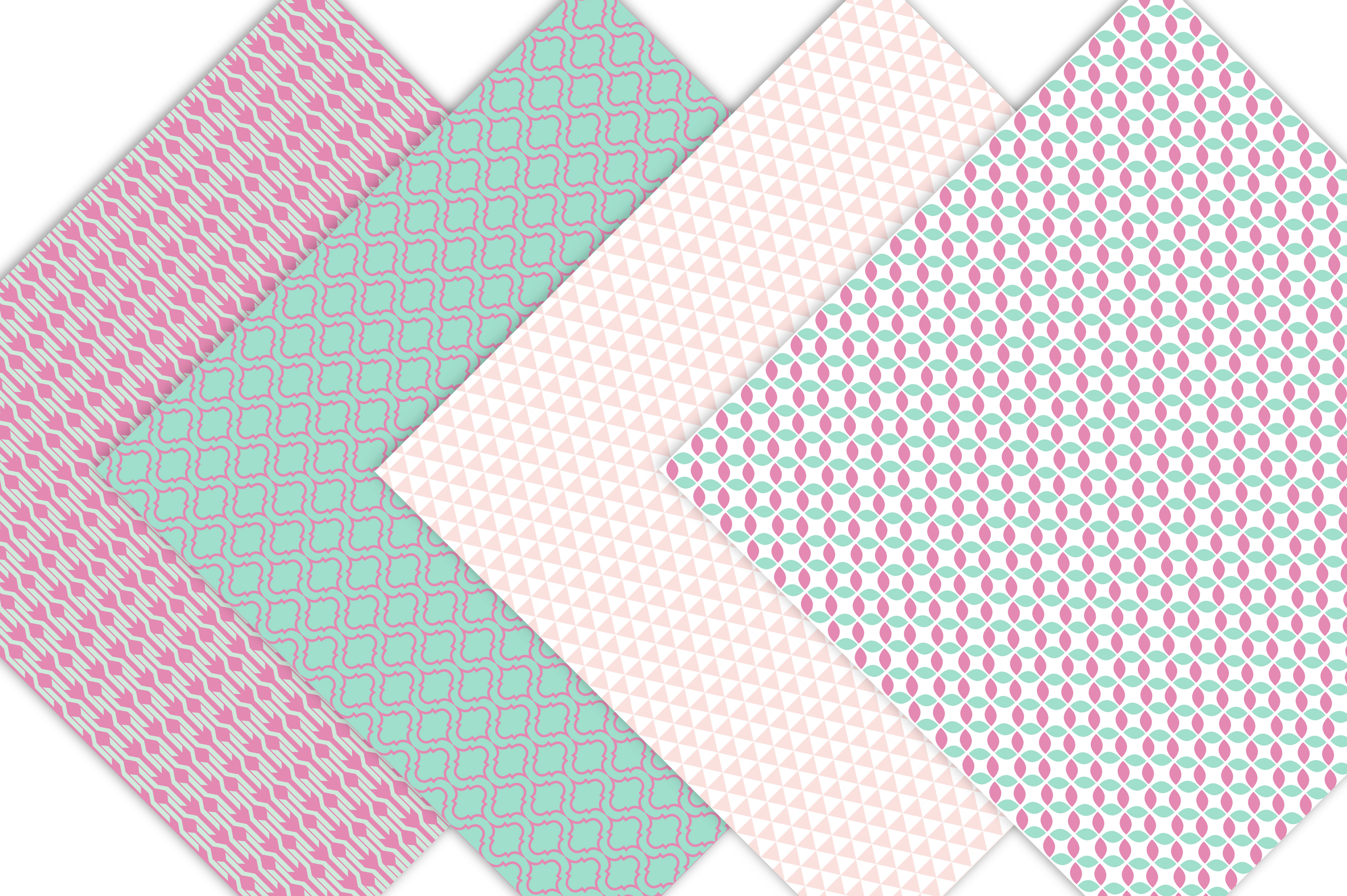 Geometric Digital Paper Patterns example image 3