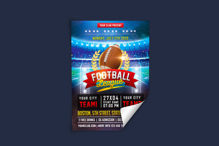 AMERICAN FOOTBALL FLYER example image 3