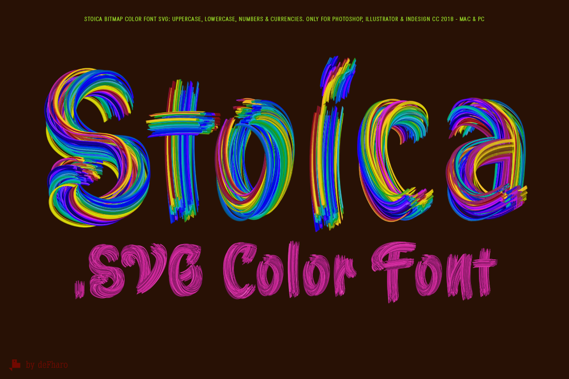 Stoica - Bitmat SVG Color Font example image 6