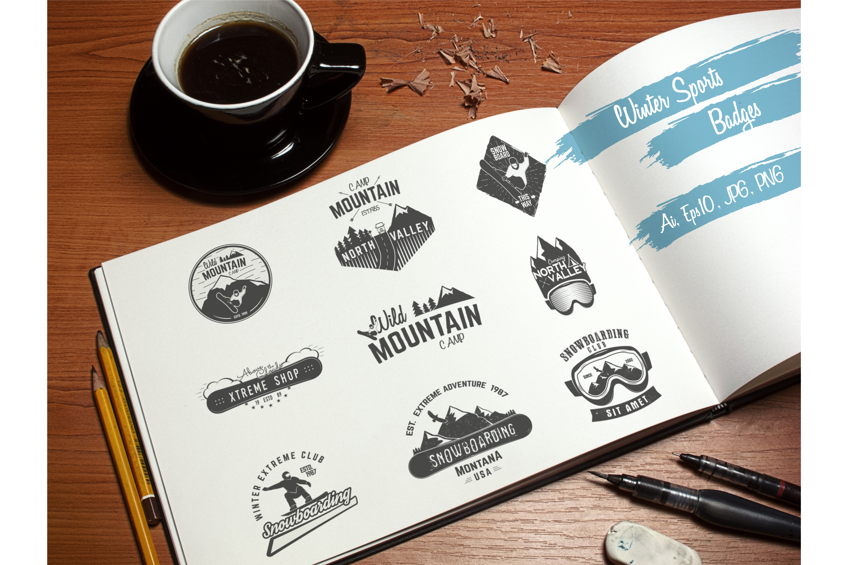 70% OFF Adventure Graphics Pack / Retro Logos Set / SVG's Collection / Icons example image 11