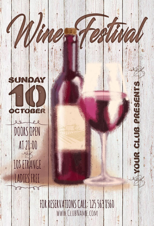Wine Festival Flyer example image 6