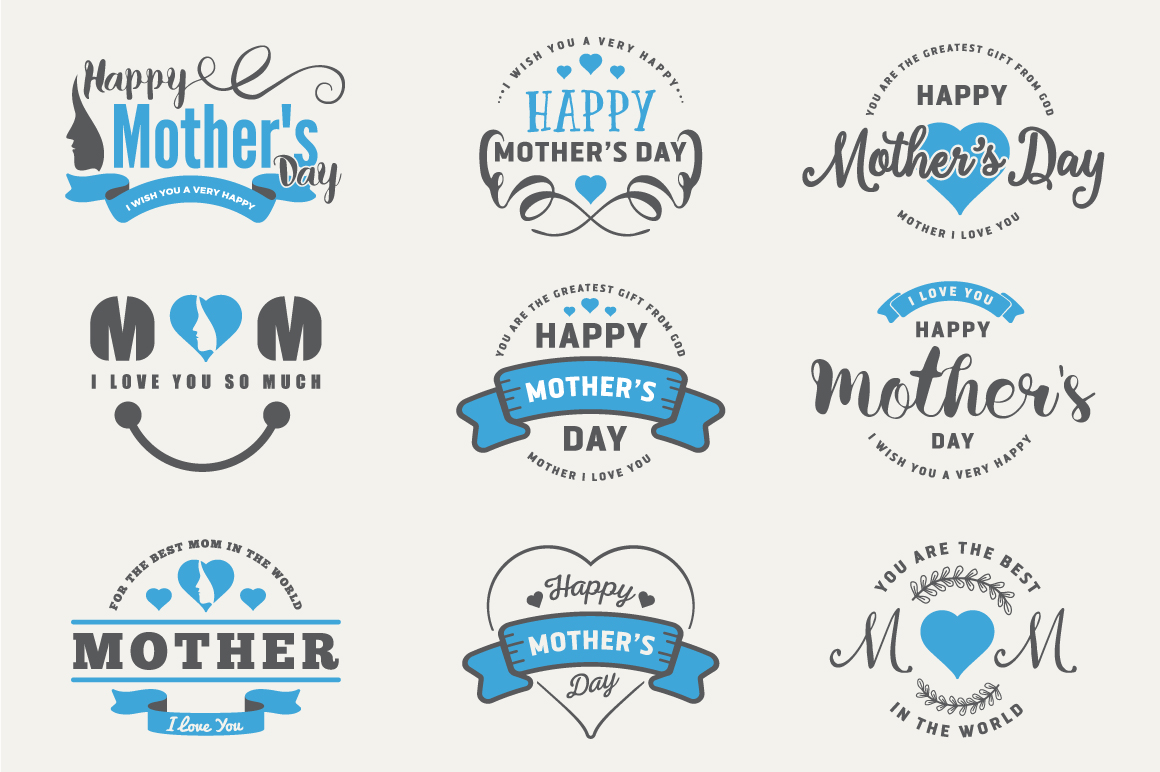 Mother's Day Badges and Labels example image 2