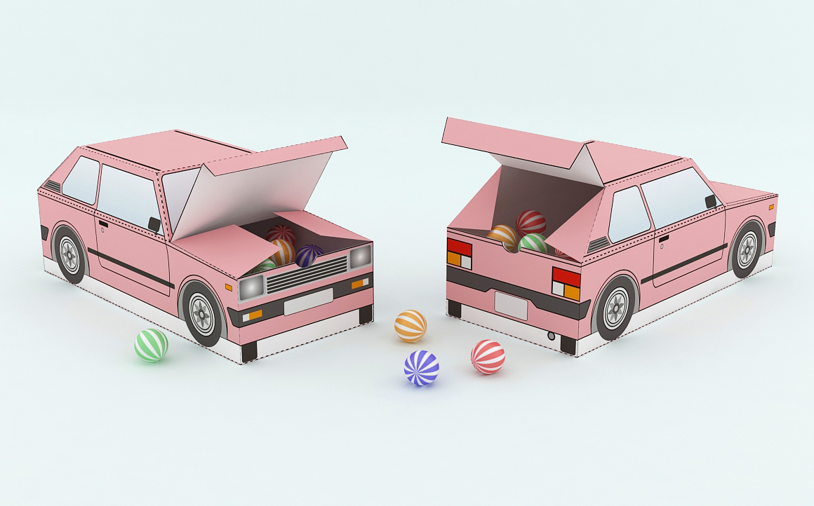 DIY Car Favor - 3d papercraft example image 3