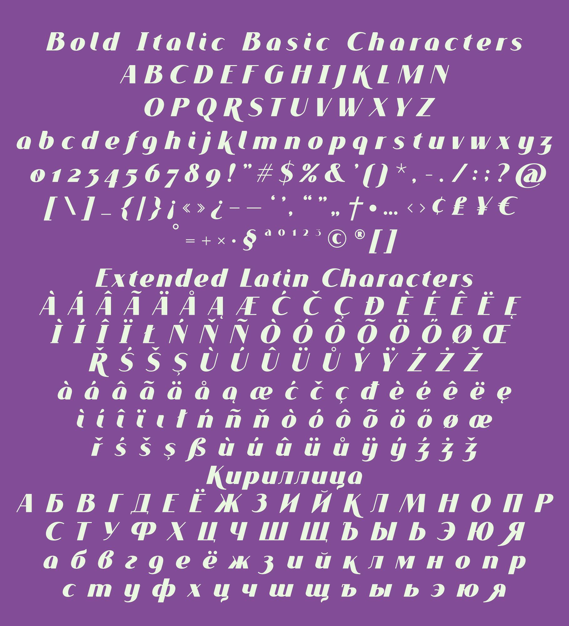 VOGUER Sans Italic example image 6