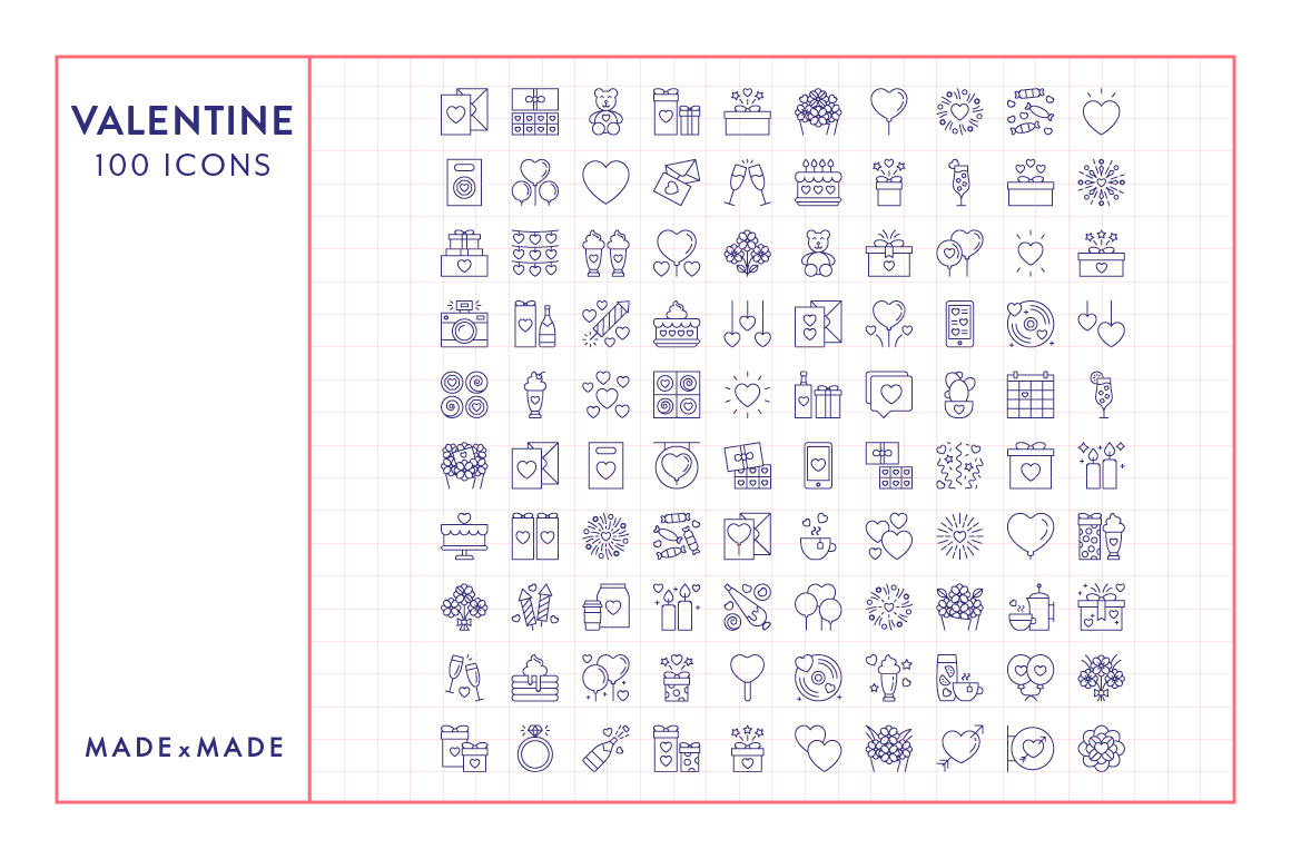 Line Icons  Valentines example image 4