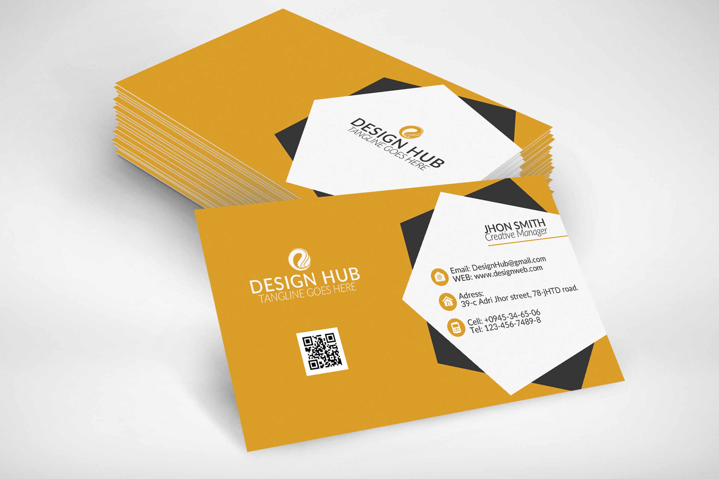 Stylish Business Card Template example image 2