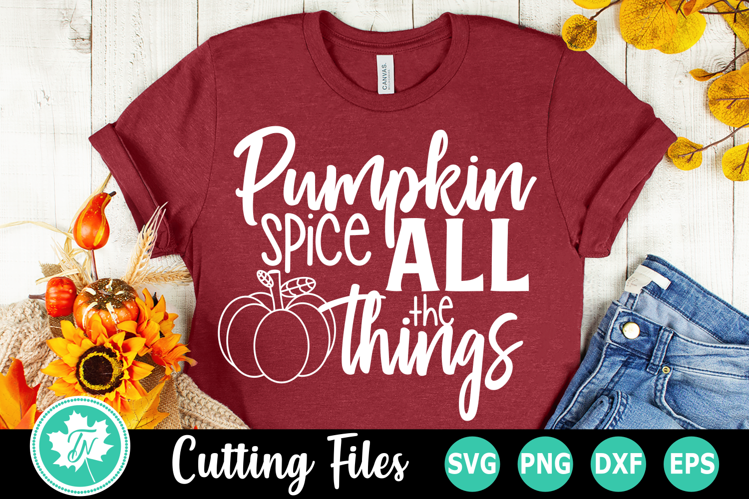 Pumpkin Spice All The Things - A Fall SVG Cut File example image 1