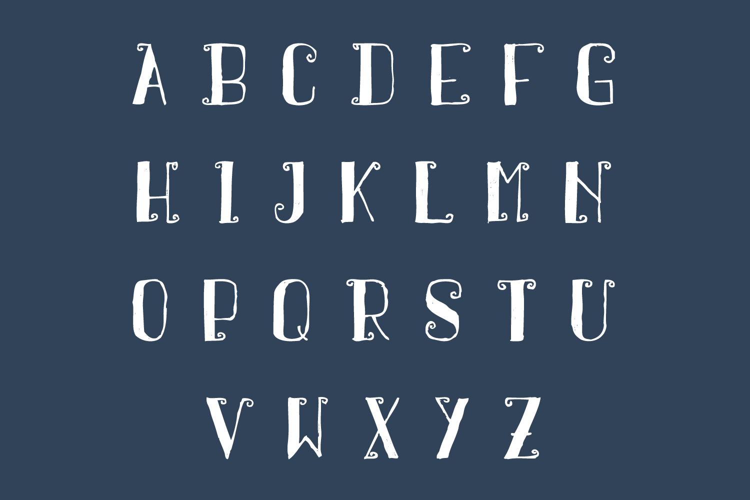 Arpeggio Curly Font example image 4
