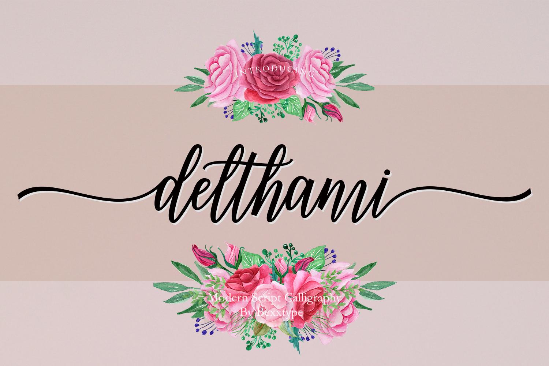 NEW Delthami Script || Elegant example image 16