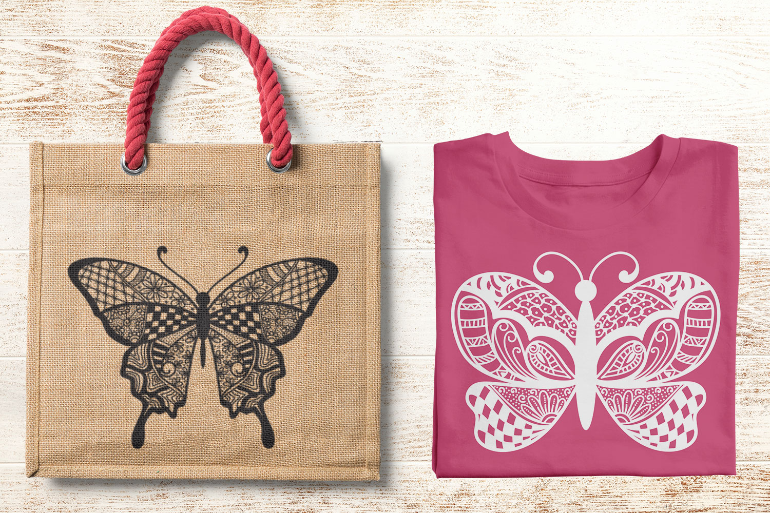 Butterfly Zentangle - Doodle Art SVG example image 3