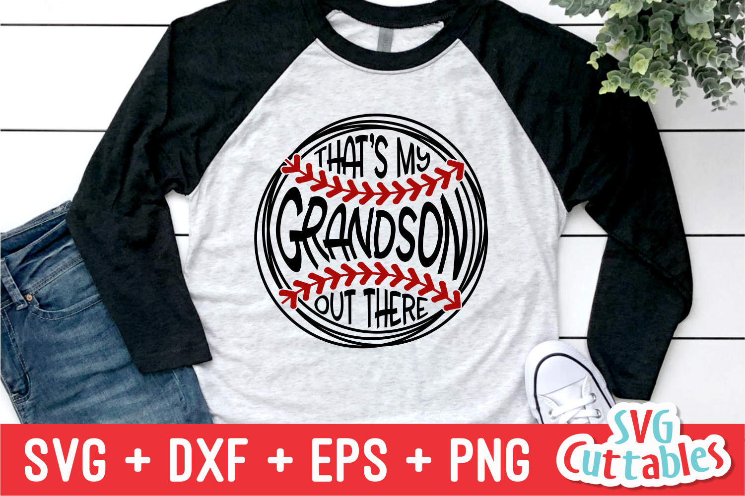That's My Grandson Out There | Baseball | SVG Cut File example image 1