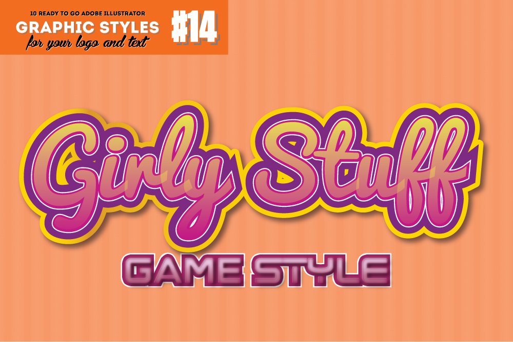 10 Girly / Cute Game Graphic Style for Adobe Illustrator example image 1