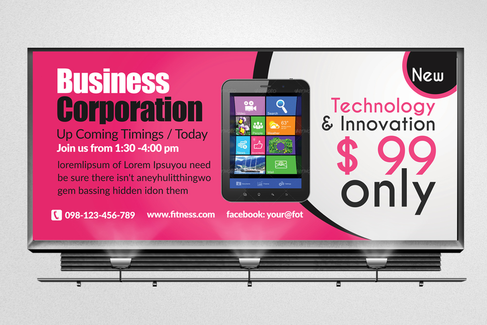 Mobile Apps Billboard Banners example image 1