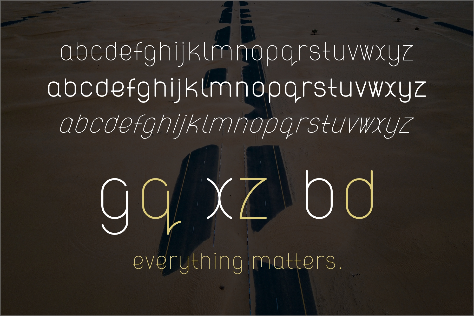 ATLAS clean modern sans typeface. example image 6