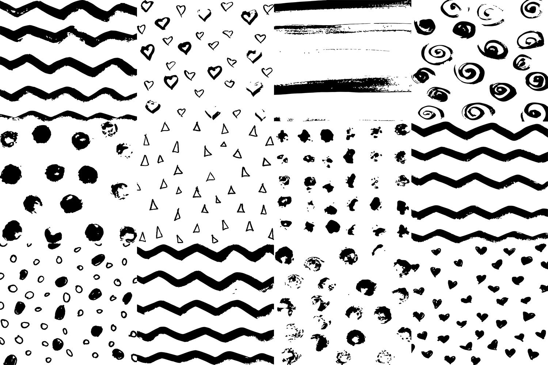 60 Black and White Patterns Bundle example image 2