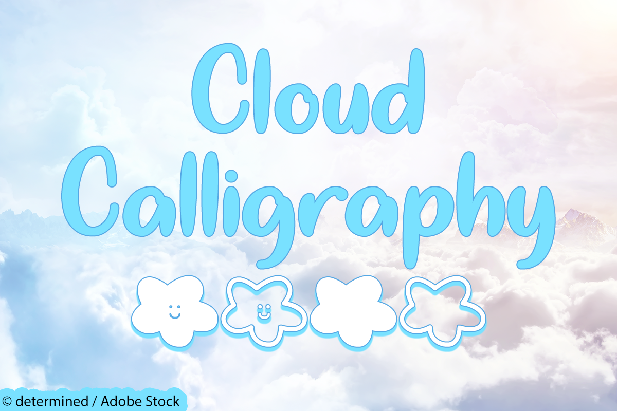 Cloud Calligraphy example image 1