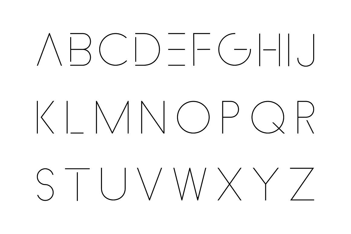 Minimalistic font. Thin design. example image 5