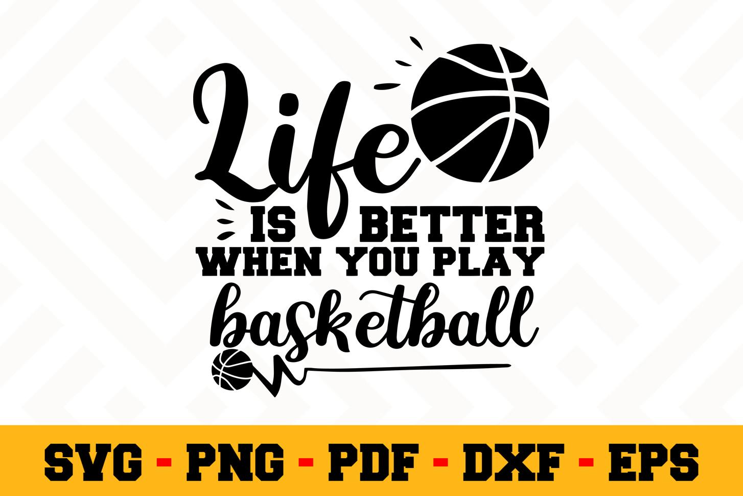 Basketball SVG Design n576 | Basketball SVG Cut File example image 1