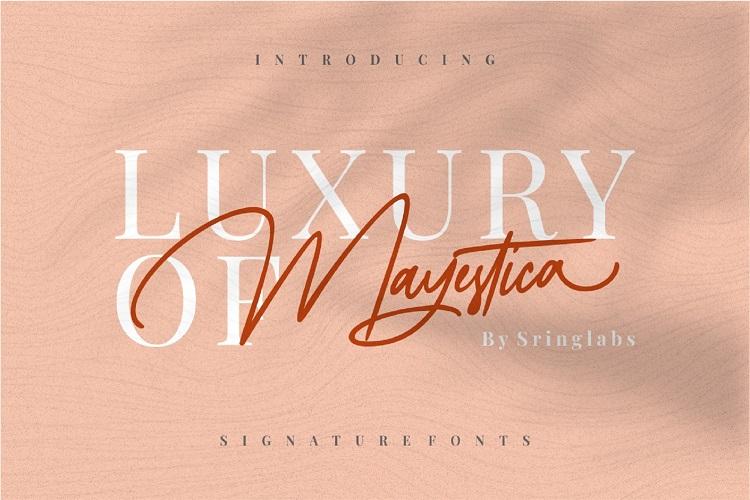 Mayestica - Luxury Signature Font example image 1