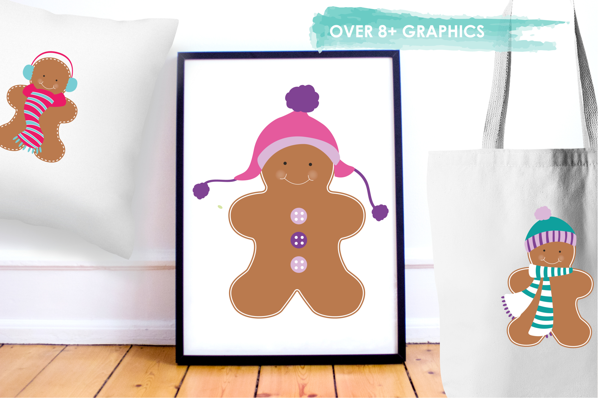 Gingerbread Colorful graphics and illustrations example image 5