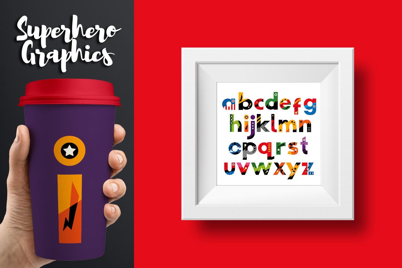 Superhero Alphabet and Punctuation - Graphics Bundle example image 8