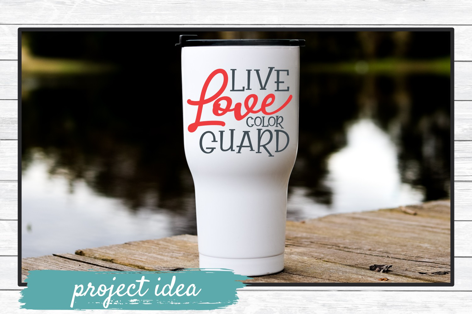 Live Love Color Guard SVG Cut File for Crafters example image 2