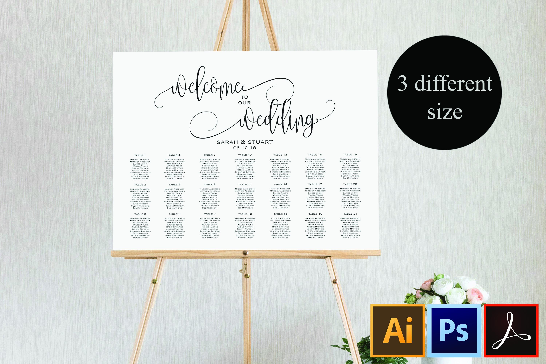 Wedding Seating Chart Template Welcome Wedding Seating Chart example image 1
