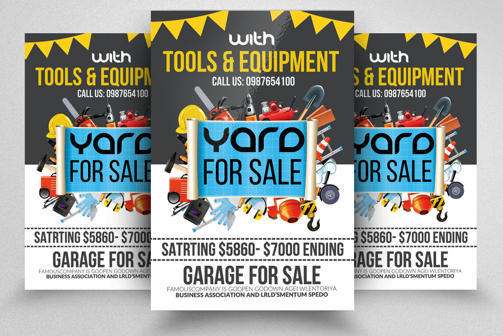10 garage sale flyer bundle