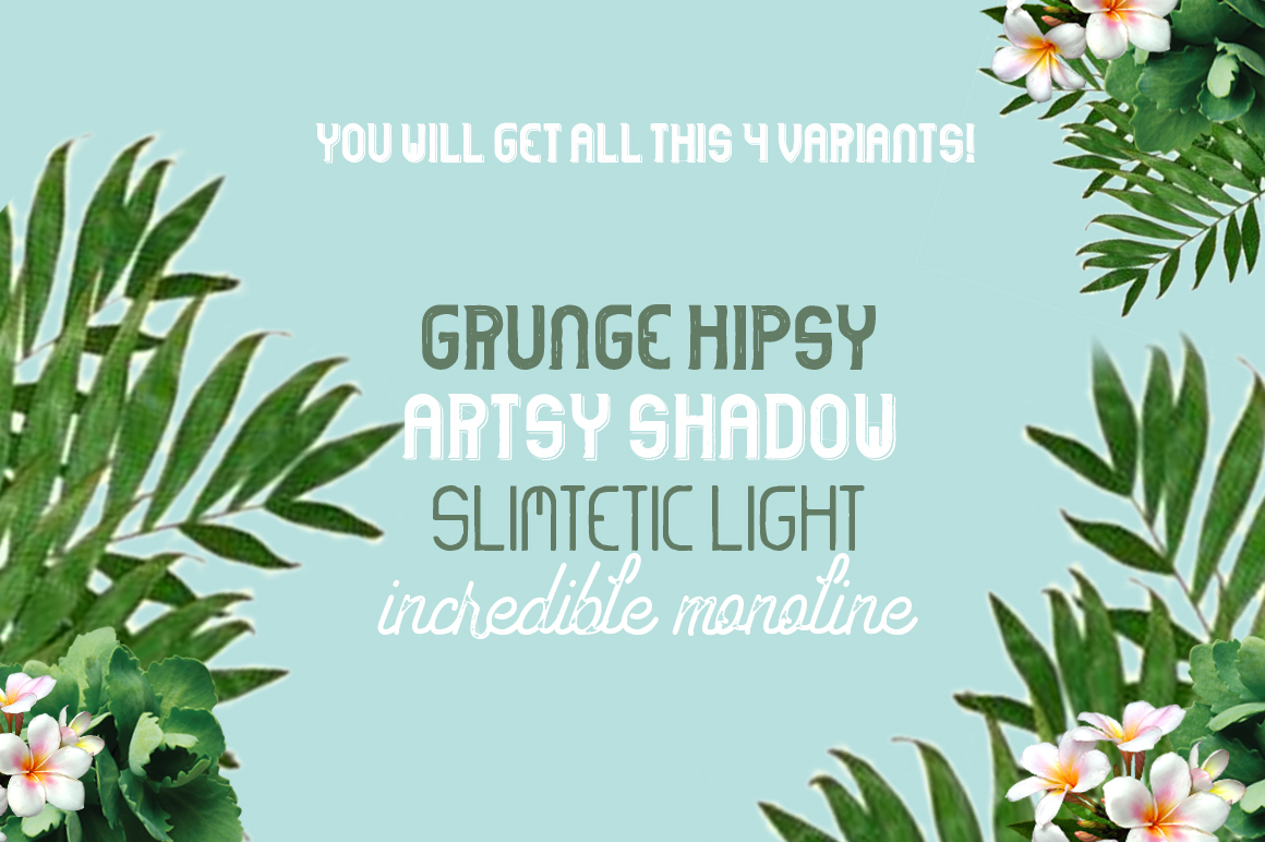 Hipstetic font family example image 2
