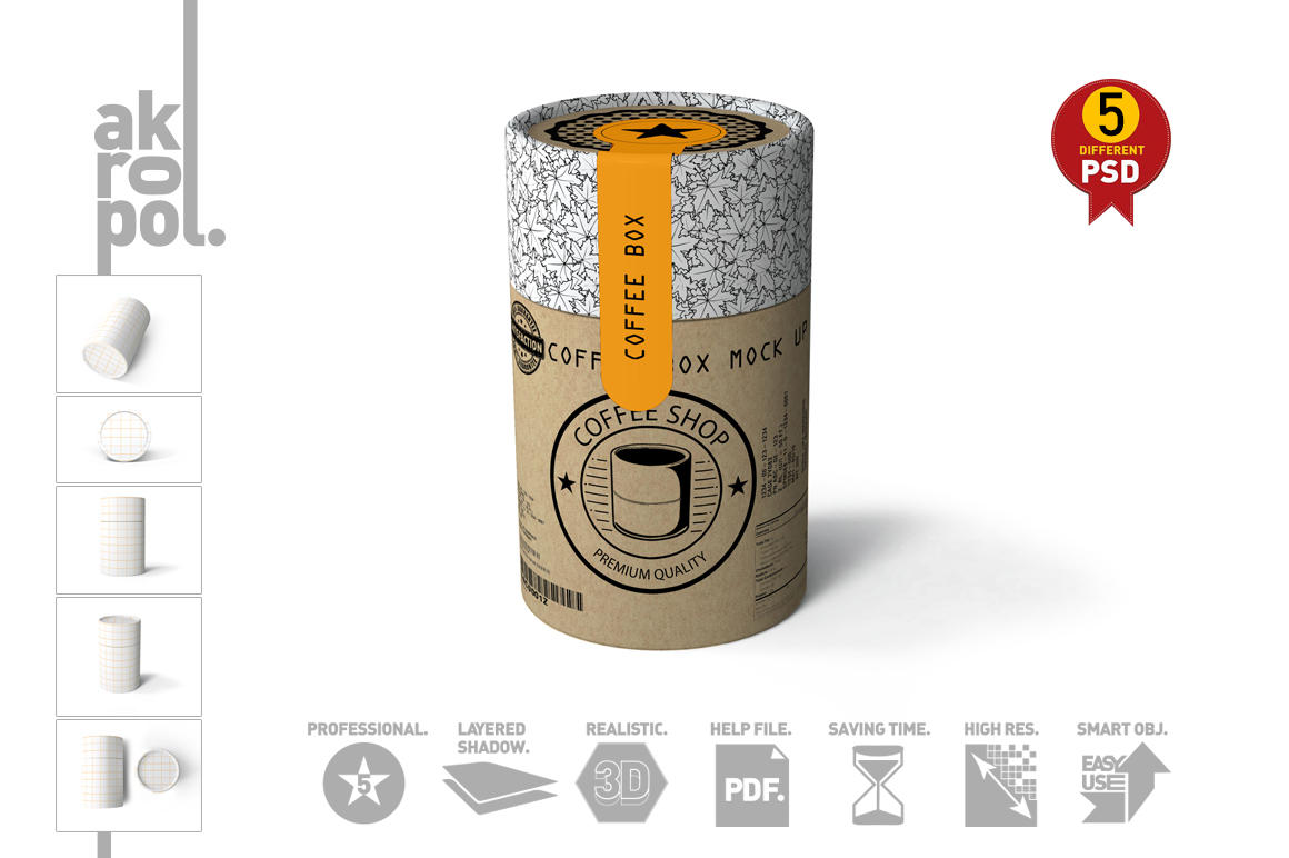 Paper tubes Mock up example image 12