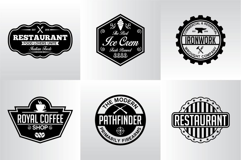 60 Vintage Bundle Logos Labels & Badges example image 17