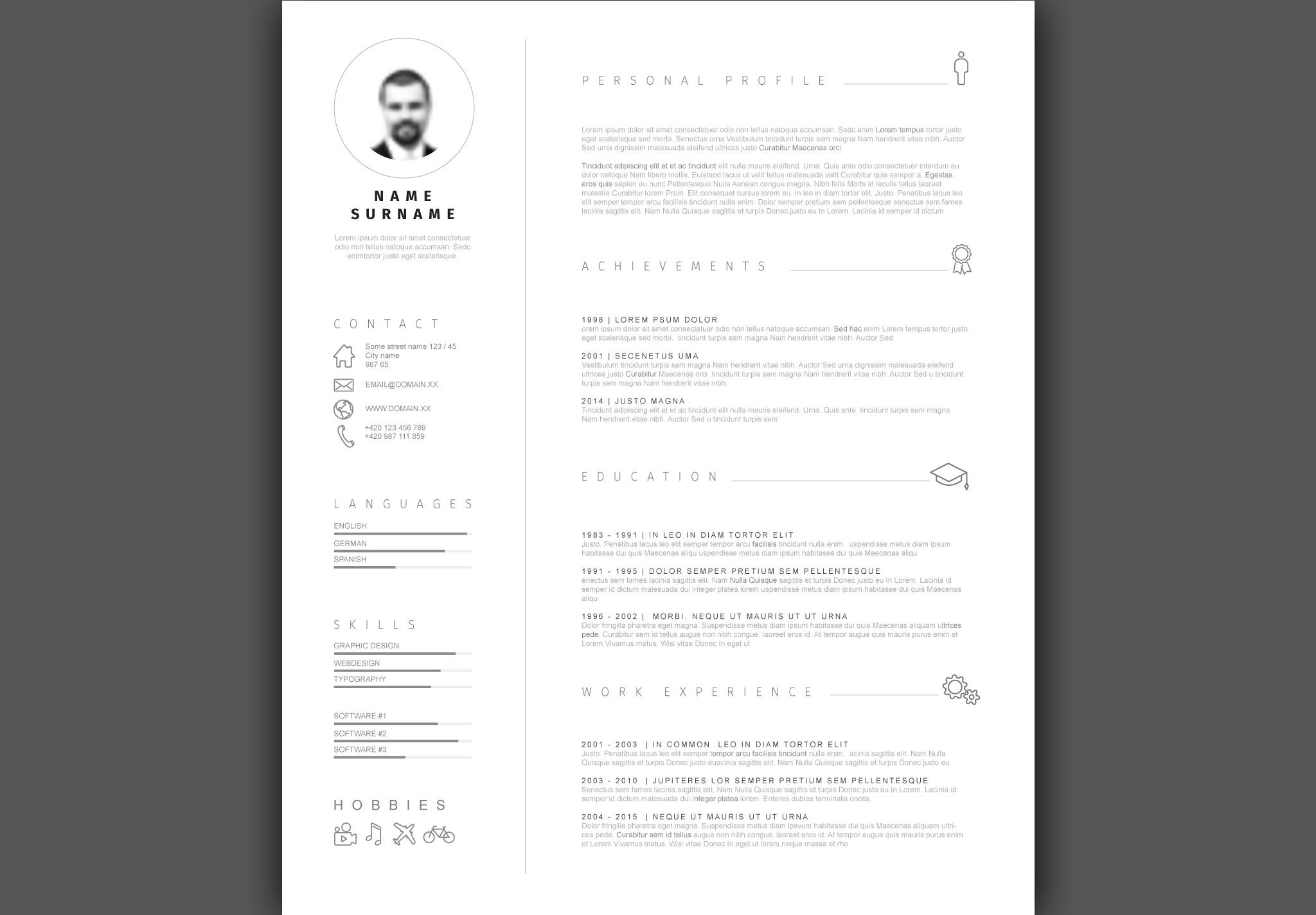 Minimalistic Resume Template example image 2