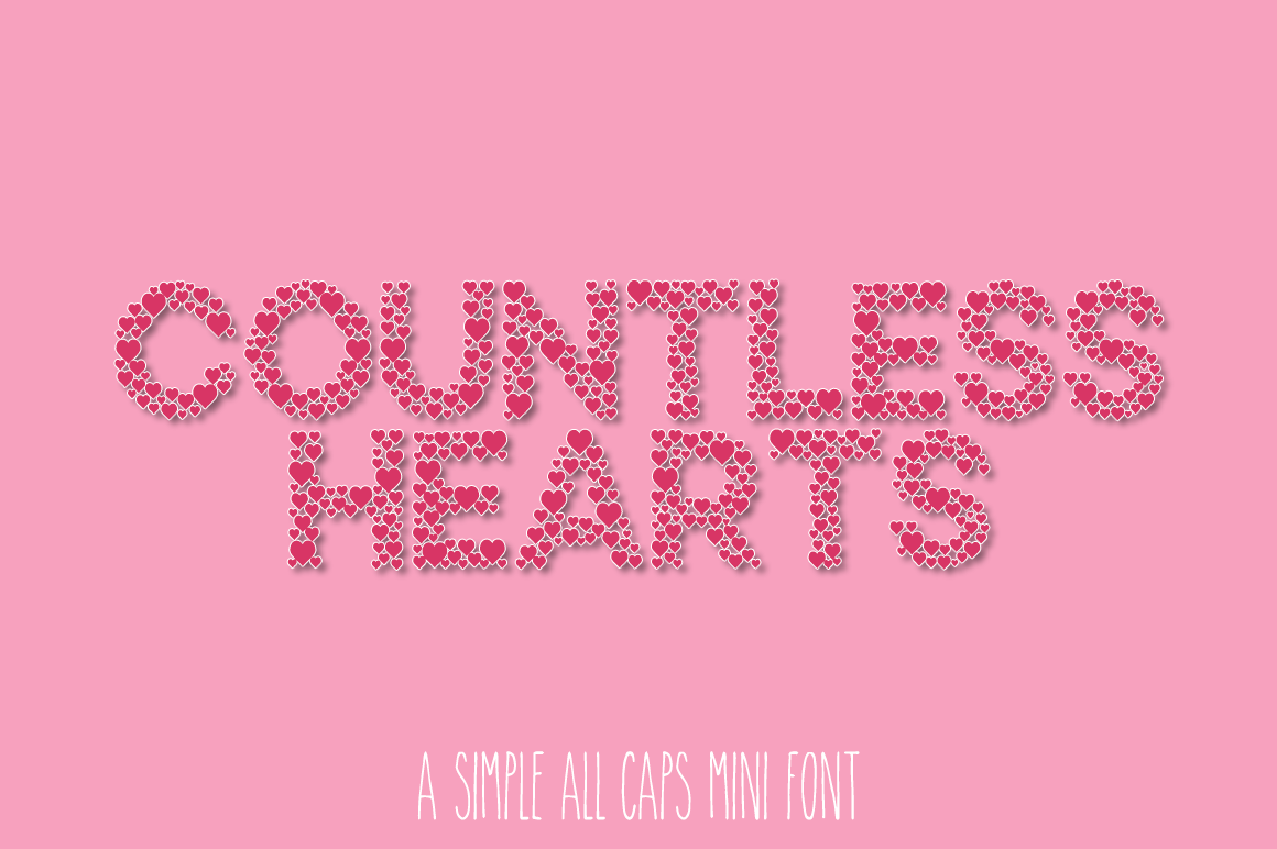 Countless Hearts - A Simple Love Font example image 1