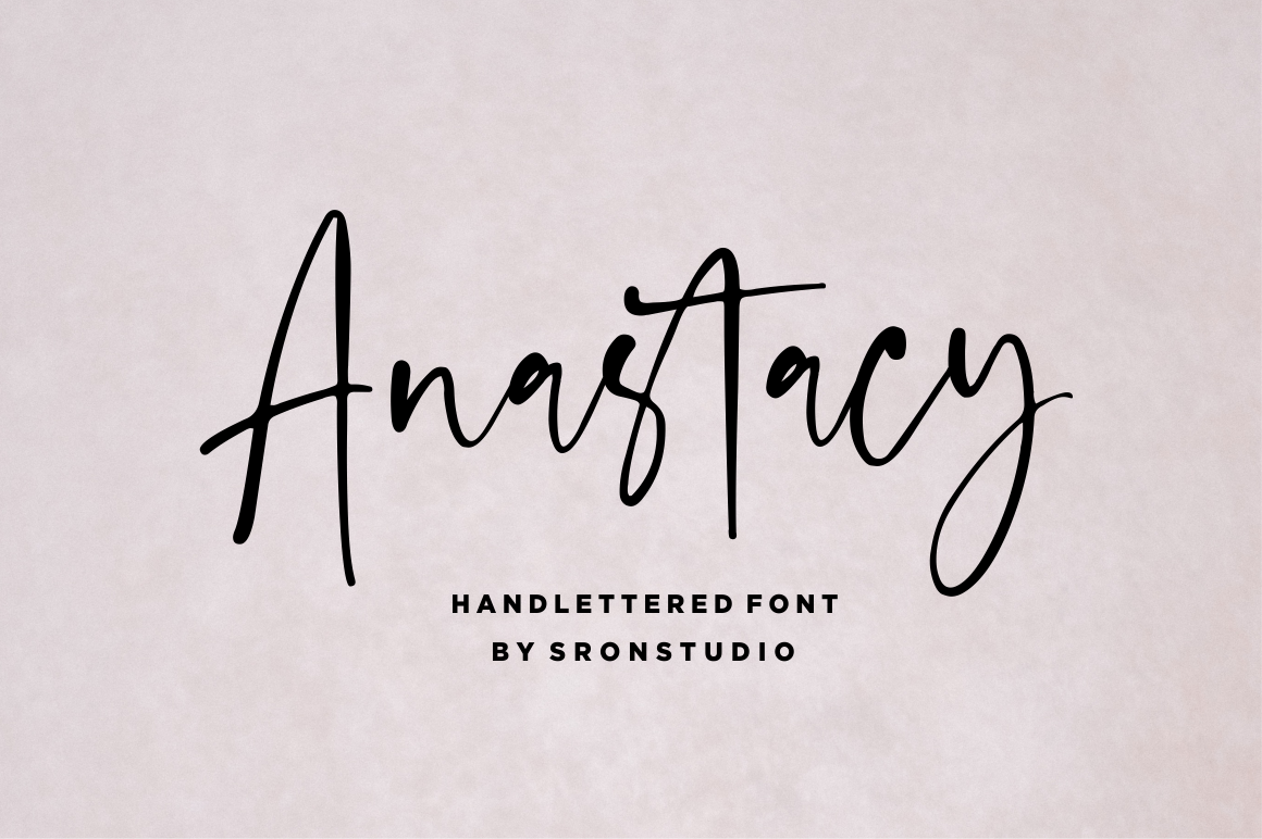 Anastacy - Handlettered Font example image 1