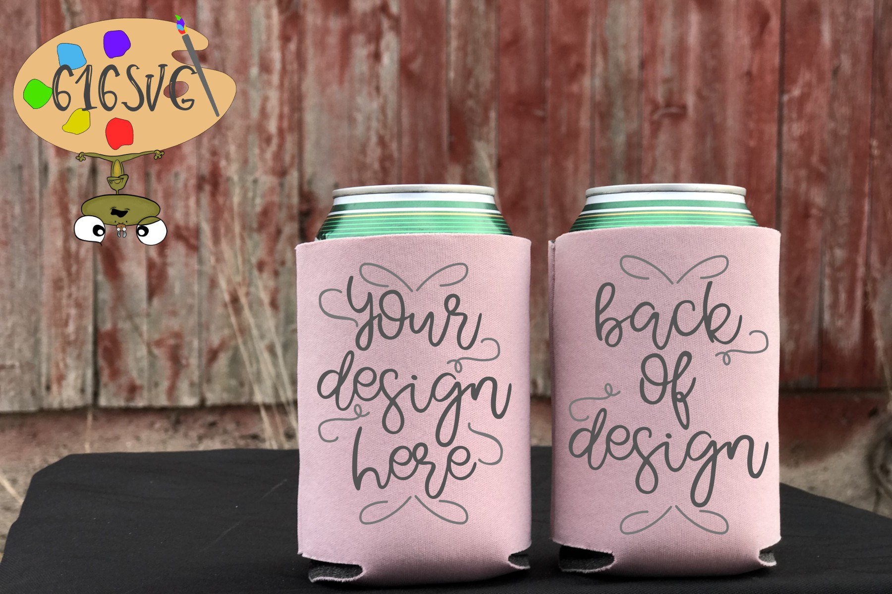 Dusty Rose Can Cooler Mockup example image 2