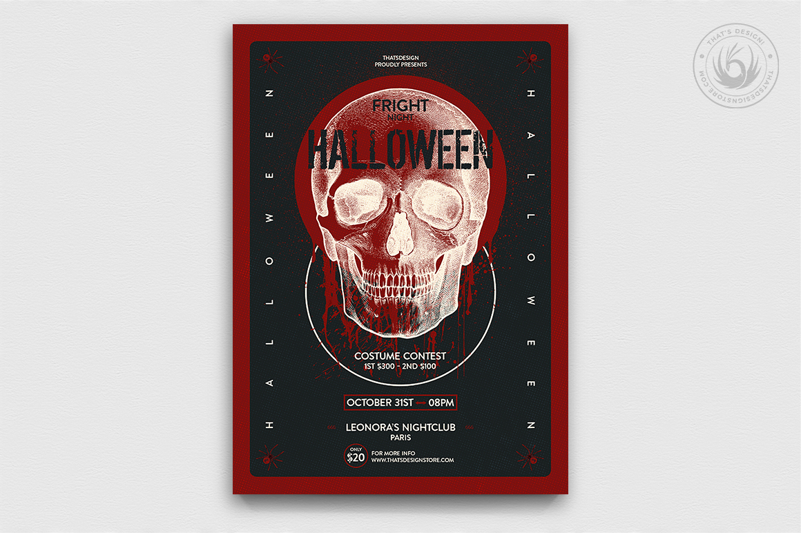 Halloween Flyer Bundle V8 example image 4