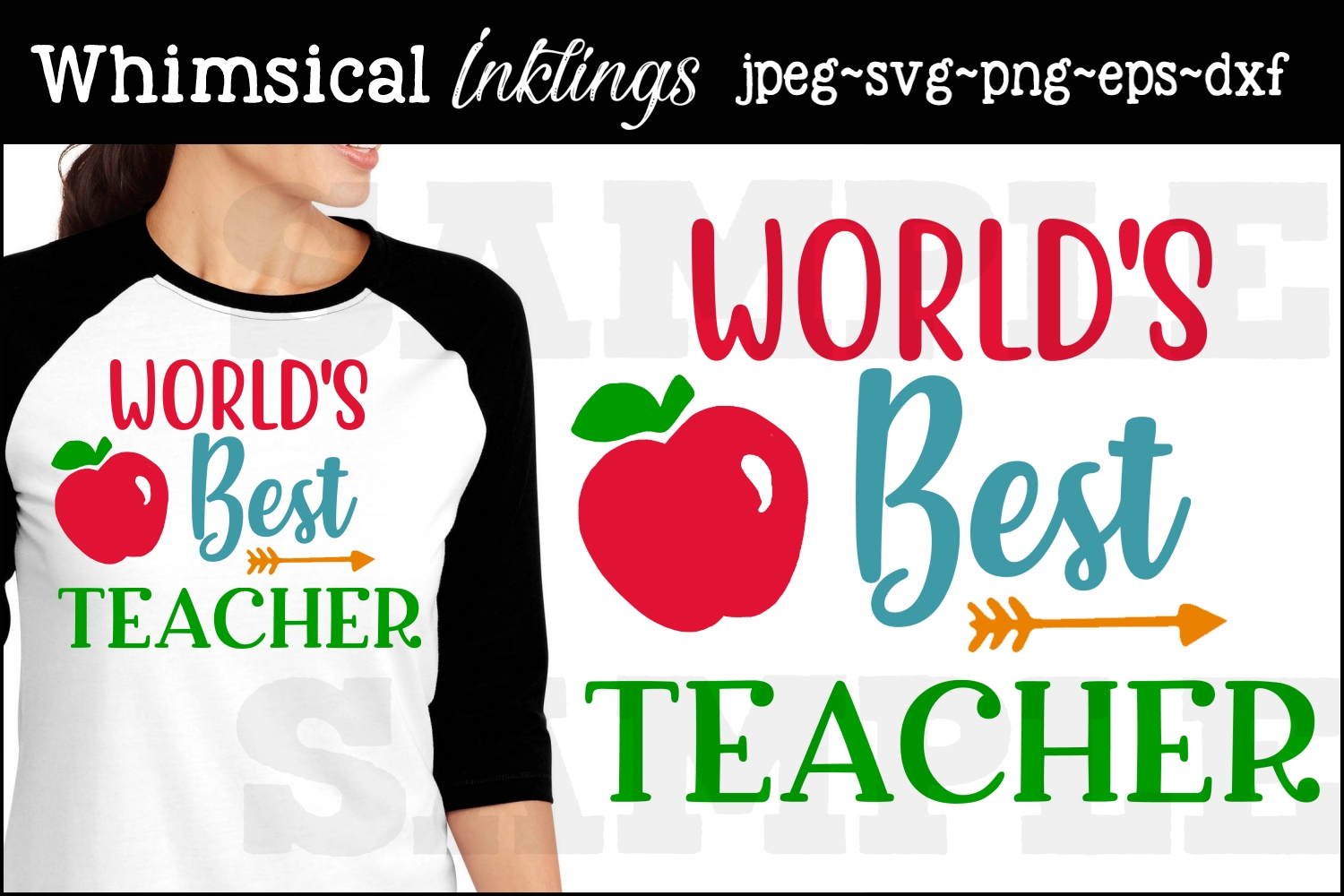 Worlds Best Teacher SVG example image 1