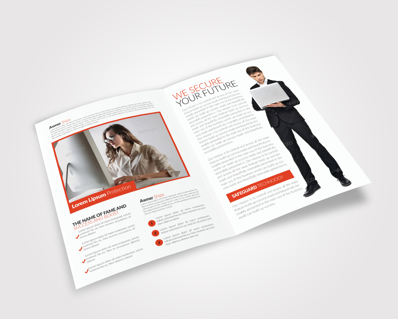 Business Bifold Brochure Templates example image 2