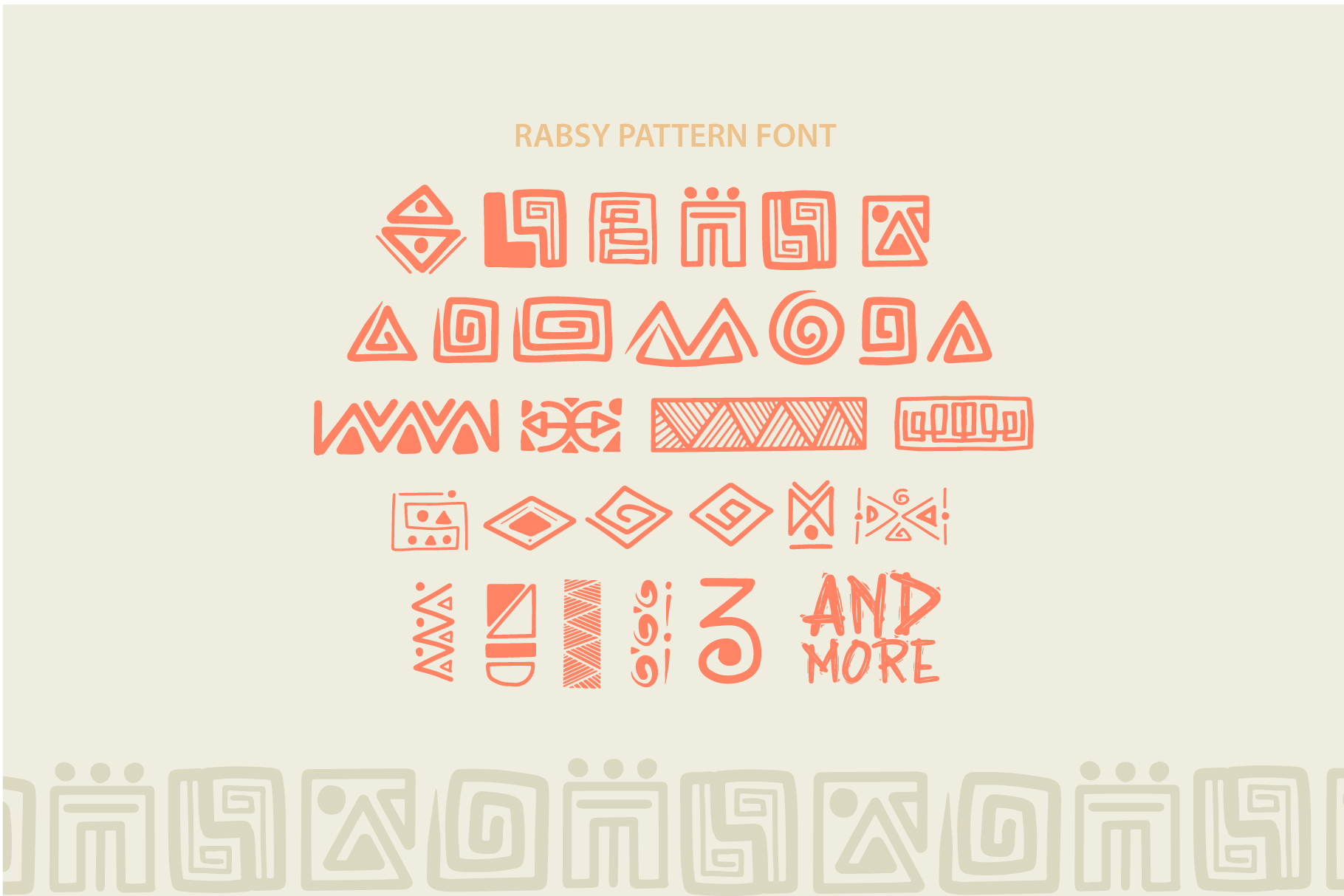 Rabsy African pattern font example image 5