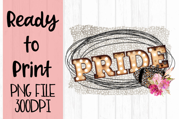 Glitter Pride Football Ready to Print example image 1
