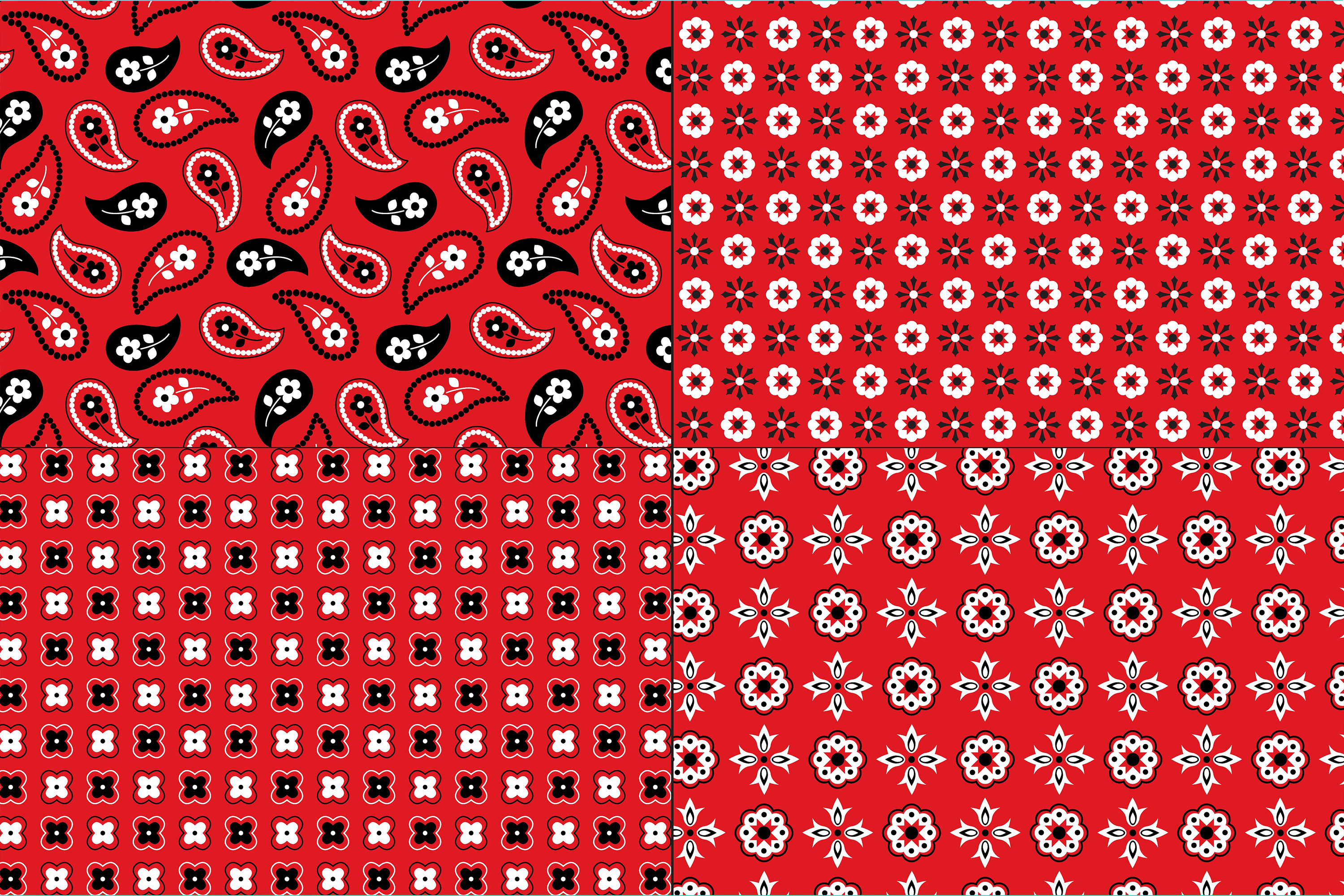 Red Bandana Patterns example image 4